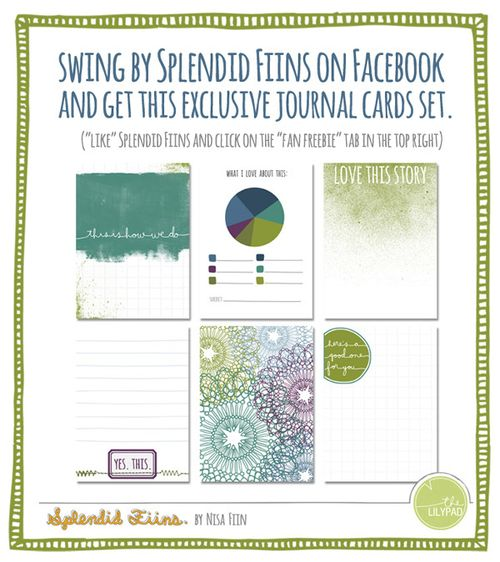 picture of Nisa Fiin's free Rain journal cards